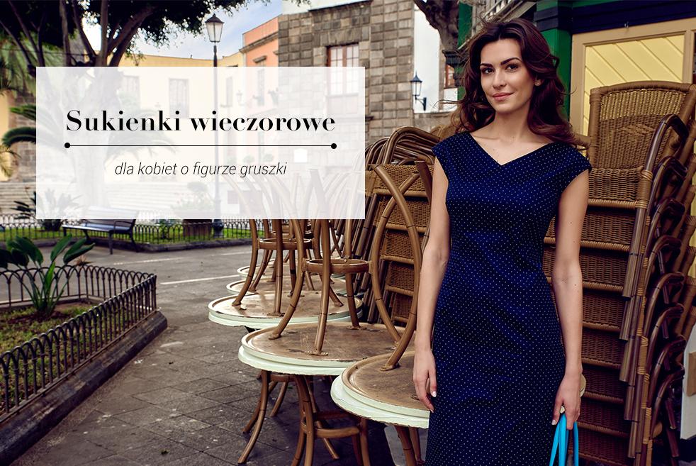 b6b4819bff Sukienki wieczorowe dla gruszki - jak wybrać
