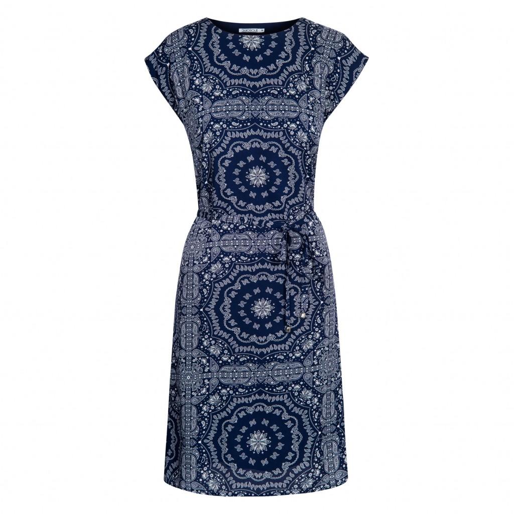 sukienka z orientalnym wzorem