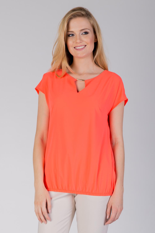 Pomarañczowa bluzka bombka