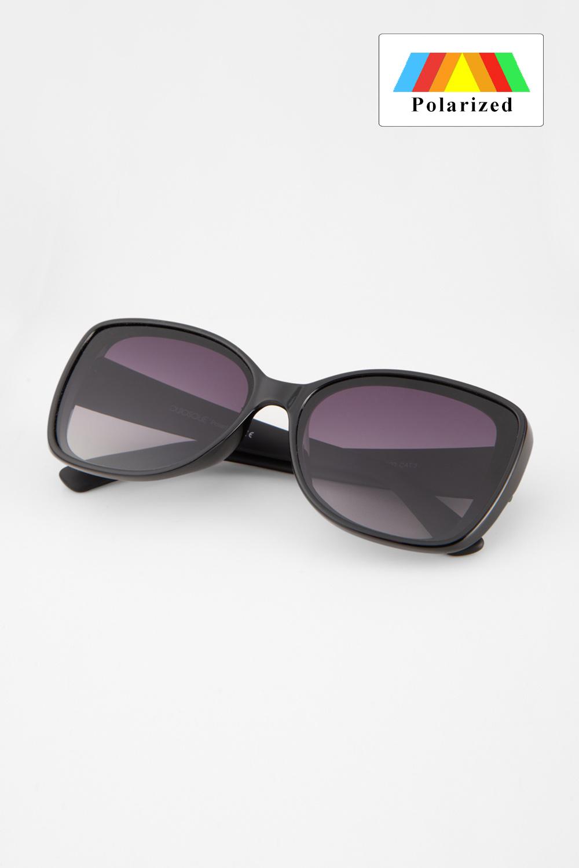 Czarne okulary z szerokimi uszkami z filtrem UV 400
