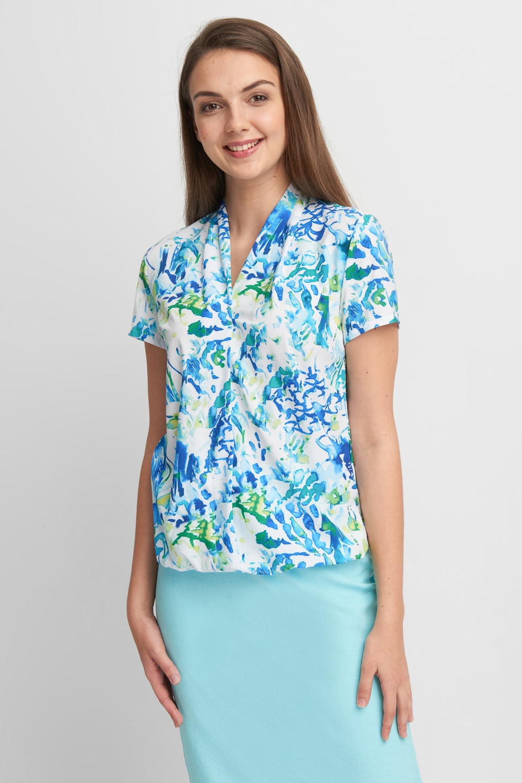 Bluzka z niebieskim wzorem