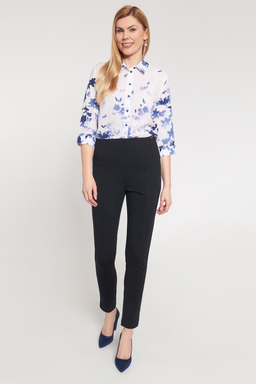 Ciemnogranatowe eleganckie wyszczuplaj±ce spodnie