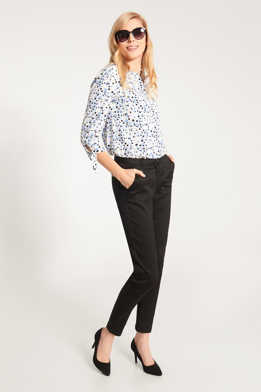 Czarne eleganckie spodnie ze zwê¿an± nogawk±