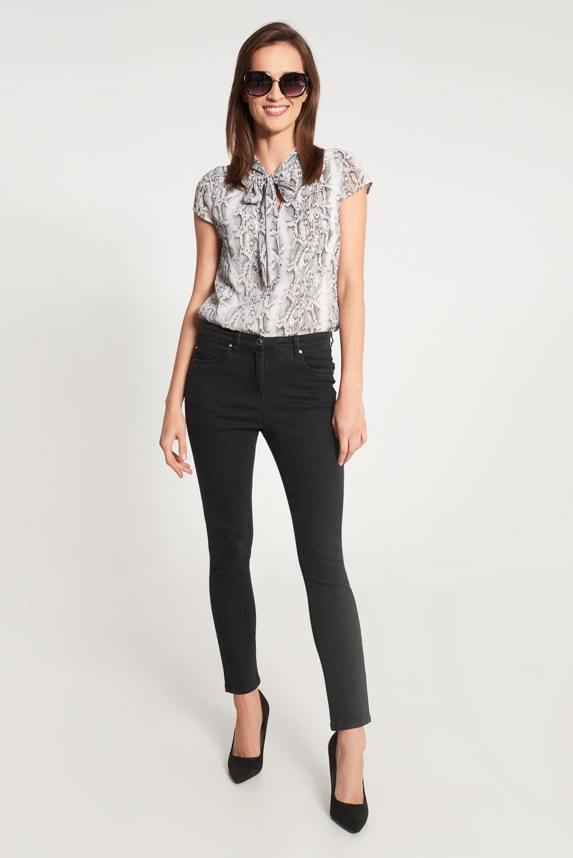 Czarne jeansowe spodnie do kostek