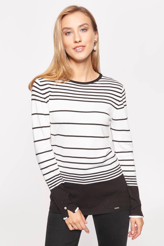 Czarno-bia³y sweter w paski