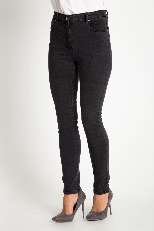 Grafitowe spodnie jeansy ze zwê¿an± nogawk±