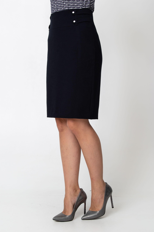 Granatowa o³ówkowa spódnica