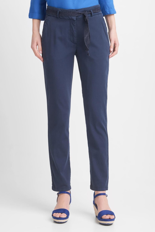Granatowe spodnie z wi±zanym paskiem
