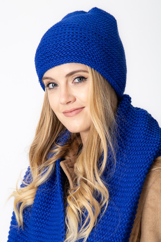 Kobaltowa ciep³a czapka