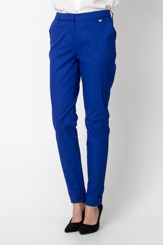 Kobaltowe materia³owe spodnie