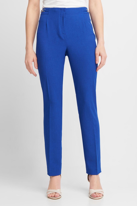 Kobaltowe spodnie w kant
