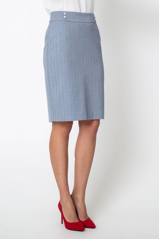 Niebieska o³ówkowa spódnica