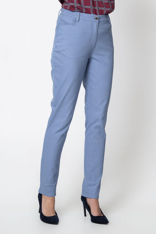 Niebieskie spodnie z regularnym stanem