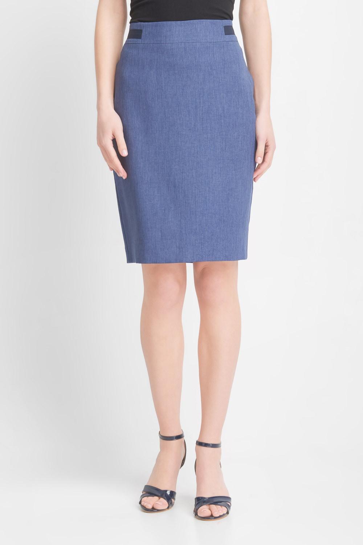 O³ówkowa niebieska spódnica midi