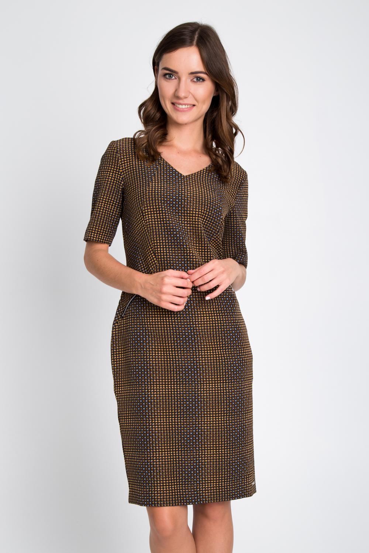Prosta sukienka z zamkami na biodrach
