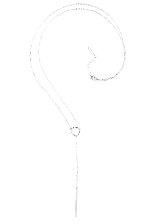 Srebrny naszyjnik z ma³ym cyrkoniowym ko³em
