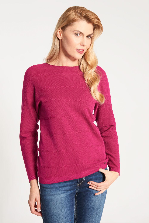 Wi¶niowy sweter ze wzorem